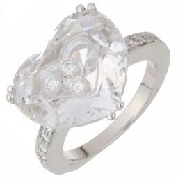 Chopard Chopard 826234-1006 Saw Happy Half 3P Diamond 750 White Gold x Crystal No. 12.5 Ladies Ring / Ring DH56225 [Used] A Rank
