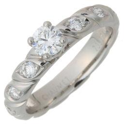 Chaumet Chaumet J3HBZZ Torsard Solitaire 0.27ct Diamond # 49 Pt950 Platinum 9 Ladies Ring / Ring DH56261 [Used] A Rank