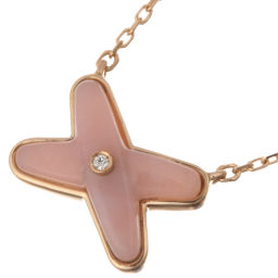 Chaumet Chaumet 082996 Lean Jeu Durian Pink Opal 1P Diamond Pendant 750 Pink Gold Ladies Necklace DH56262 [Used] A Rank