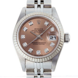 ROLEX ロレックス 79174G デイトジャスト 10P ダイヤモンド K番 2001年製 ステンレススチール×K18ホワイトゴールド メンズ 腕時計 DH56316【中古】Aランク