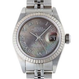 ROLEX ロレックス 79174NR デイトジャスト Y番 2003年製 ステンレススチール×K18ホワイトゴールド レディース 腕時計 DH56322【中古】Aランク