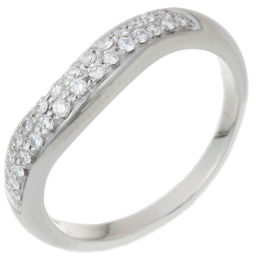 BVLGARI Bvlgari Corona Pave Diamond Pt950 Platinum 11 Ladies Ring / Ring DH56324 [Used] A Rank