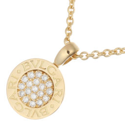 BVLGARI Bulgari Bulgari Bulgari Diamond 750 Yellow Gold Ladies Necklace DH56331 [Used] A Rank