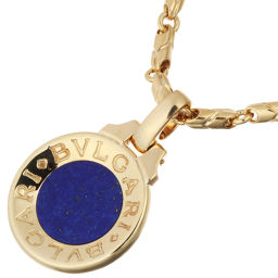 BVLGARI Bulgari Bulgari Bulgari Lapis Lazuli Pendant Passo Doppio Chain 750 Yellow Gold Ladies' Men's Necklace DH56334 [Used] A Rank