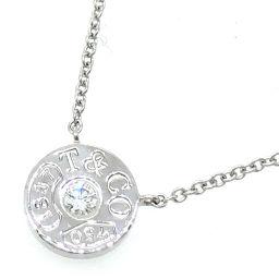 TIFFANY&Co. ティファニー 1837 サークル ダイヤモンド ペンダント 750ホワイトゴールド レディース ネックレス DH56371【中古】Aランク