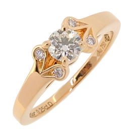 CARTIER Cartier ballerina diamond # 50 750 pink gold No. 10 Ladies ring / ring DH56447 [Used] A rank
