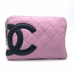 CHANEL Chanel Cambon Line Leather Ladies Pouch DH56462 [Used]