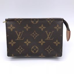 LOUIS VUITTON Louis Vuitton M47546 Pochette Toilet 15 Monogram Canvas Ladies Pouch DH56470 [Used] AB Rank