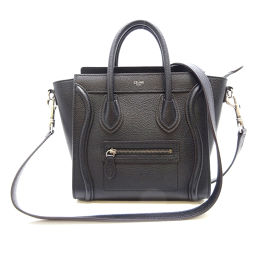 CELINE Celine 189243DRU38NO Luggage Nano Shopper Calf Ladies Handbag DH56535 [Used] A Rank