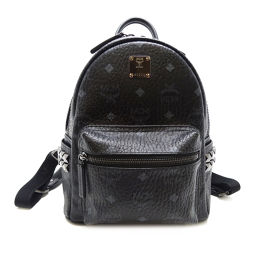 MCM MCM MMK6SVF41BK001 Studs Mini Backpack Leather Ladies Backpack Daypack DH56539 [Used] A Rank