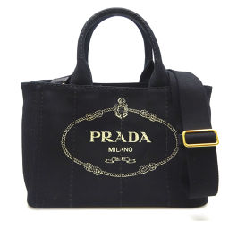 PRADA Prada 1BG439 Canapato Tote Canvas Ladies Tote Bag DH56542 [Used] A rank
