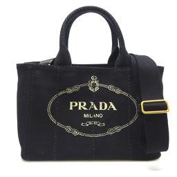 PRADA プラダ 1BG439 カナパトート キャンバス レディース トートバッグ DH56542【中古】Aランク