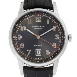TIFFANY&Co. ティファニー 34667934 CT60 ステンレススチール×レザー メンズ 腕時計 DH56553【中古】Aランク