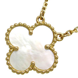 Van Cleef & Arpels Van Cleef & Arpels VCARA45900 Vintage Alhambra Mother of Pearl Pendant 750 Yellow Gold Ladies Necklace DH56581 [Used] A Rank