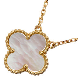 Van Cleef & Arpels Van Cleef & Arpel VCARA45900 Vintage Alhambra Mother of Pearl Pendant 750 Yellow Gold Ladies Necklace DH56583 [Used] A Rank