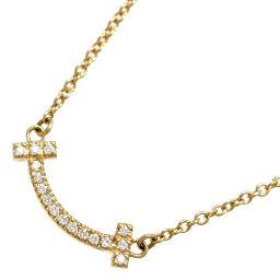 TIFFANY&Co. ティファニー T スマイル ミニ ダイヤモンド ペンダント 750イエローゴールド レディース ネックレス DH56585【中古】Aランク