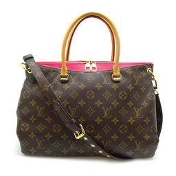 LOUIS VUITTON Louis Vuitton M40466 (Discontinued color) Pallas Monogram Canvas Ladies Handbag DH56665 [Used] AB Rank