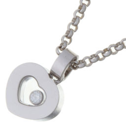 Chopard Chopard 79 / 2897-20 Happy Diamonds 750 White Gold Ladies Necklace DH56953 [Used] Rank A