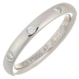 Van Cleef & Arpels ヴァンクリーフ&アーペル アンフィニ エトワール 3P ダイヤモンド #47 Pt950プラチナ 7号 レディース リング・指輪 DH57137【中古】Aランク