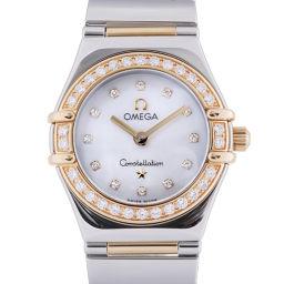 OMEGA オメガ 1365.75 コンステレーション マイチョイス ベゼル 12P ダイヤモンド ステンレススチール×K18イエローゴールド レディース 腕時計 DH57149【中古】Aランク