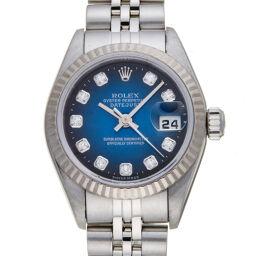 ROLEX ロレックス 79174G デイトジャスト 10P ダイヤモンド A番 1999年製 ステンレススチール×K18イエローゴールド レディース 腕時計 DH57930【中古】ABランク