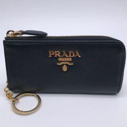 PRADA プラダ 1PP026 ファスナー サフィアーノ レザー メンズ キーケース DH57954【中古】Aランク