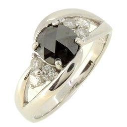 Non Brand ノンブランド K18WG ブラック ダイヤモンド K18ホワイトゴールド 12号 レディース リング・指輪 DH58048【中古】Aランク