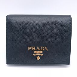 PRADA プラダ 1MV204 小物×サフィアーノレザー レディース・メンズ 二つ折り財布 DH58305【中古】Aランク