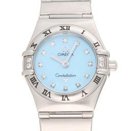 OMEGA オメガ 1567.86 コンステレーション ミニ シンディクロフォード サイド 12P ダイヤモンド ステンレススチール レディース 腕時計 DH58317【中古】Aランク