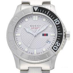 GUCCI グッチ 126.2 (YA126252) Gタイムレス ステンレススチール メンズ 腕時計 DH58341【中古】Aランク
