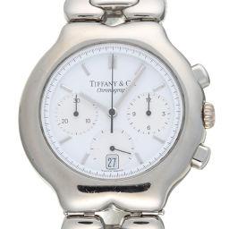 TIFFANY&Co. ティファニー M0311 ティソロ クロノグラフ ステンレススチール メンズ 腕時計 DH58374【中古】ABランク