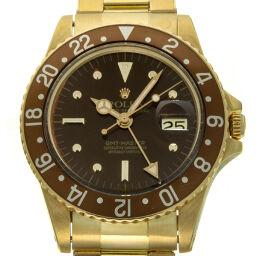 ROLEX ロレックス 1675/8 GMTマスター 59番 1979年頃製造×18Kイエローゴールド メンズ 腕時計 DH58407【中古】ABランク