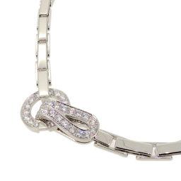 CARTIER カルティエ アグラフ ダイヤモンド 750ホワイトゴールド レディース ネックレス DH58476【中古】Aランク