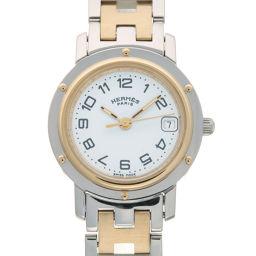 HERMES エルメス CL4.220 クリッパー ステンレススチール×GP レディース 腕時計 DH58483【中古】Aランク