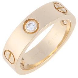 CARTIER カルティエ ラブ ハーフ ダイヤモンド #54 750イエローゴールド 14号 レディース・メンズ リング・指輪 DH58549【中古】Aランク