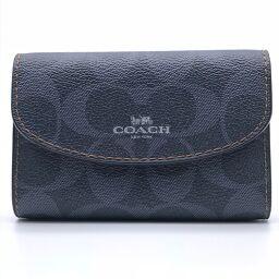 COACH コーチ 6連×シグネチャー メンズ キーケース DH58887【中古】Aランク