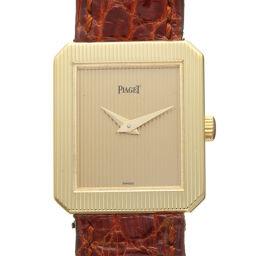 PIAGET ピアジェ 8354N プロトコール 750イエローゴールド×レザー レディース 腕時計 DH59480  【中古】ABランク