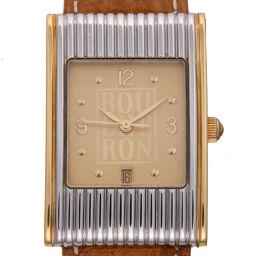 Boucheron ブシュロン リフレ ステンレススチール×GP×レザー レディース・メンズ 腕時計 DH59483【中古】ABランク