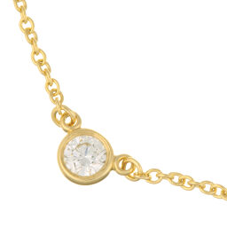 TIFFANY&Co. ティファニー エルサペレッティ バイザヤード ダイヤモンド 750イエローゴールド レディース ネックレス DH59489【中古】Aランク