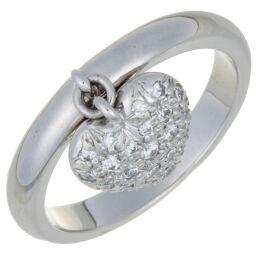 TIFFANY&Co. ティファニー ハート パヴェ ダイヤモンド Pt950プラチナ 10号 レディース リング・指輪 DH59490【中古】Aランク