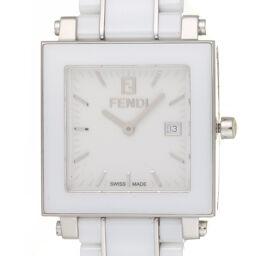 FENDI フェンディ F622140 クワドロ スクエア セラミック×ステンレススチール レディース 腕時計 DH59516【中古】ABランク