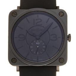 Bell&Ross ベル&ロス BRS-98-PBC スクエア セラミック×ステンレススチール×ラバー レディース・メンズ 腕時計 DH59562【中古】Aランク