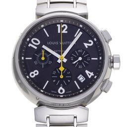 LOUIS VUITTON ルイ・ヴィトン Q1121 タンブール クロノグラフ ステンレススチール メンズ 腕時計 DH59656【中古】ABランク