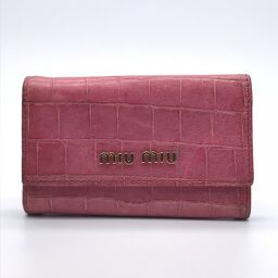 MIUMIU 6 consecutive x crocodile embossed leather ladies key case DH59746 [used] BC rank