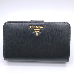 PRADA Prada 1ML225 Bi-Fold Wallet Leather x VITELLO MOVE BI Ladies Bi-Fold Wallet DH60031 [Used] AB Rank