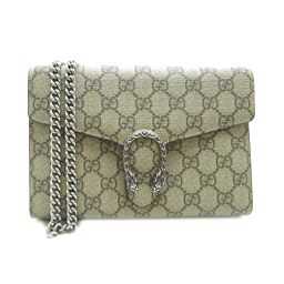 GUCCI Gucci 401231 Dionysos Chain Wallet GG Supreme Canvas Ladies Wallet Chain DH60149 [Used] A rank