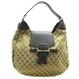 GUCCI Gucci 322226 Tassel & Horsebit GG 2Way Shoulder Bag GG Canvas Ladies Tote Bag DH60151 [Used] A rank