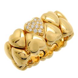 CARTIER Cartier Double Heart Diamond # 50 750 Yellow Gold No. 10 Ladies Ring / Ring DH60171 [Used] A rank