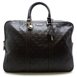 GUCCI Gucci 201480 Briefcase Shima Leather Men's Business Bag DH60181 [Used]