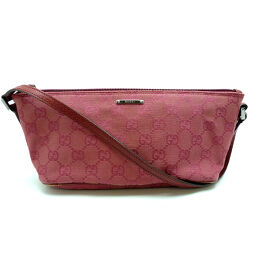 GUCCI Gucci 07198 Shoulder Pouch GG Canvas Ladies Handbag DH60182 [Used]